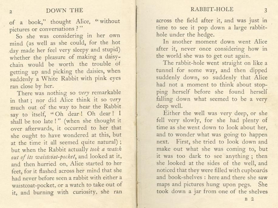Gallery images and information: Alice In Wonderland Book Pages