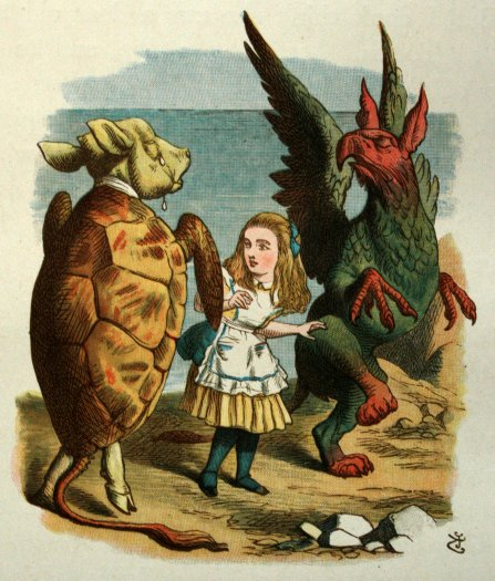 """XII. THE LOBSTER-QUADRILLE. - The Nursery """"Alice"""" by Lewis Carroll ** aliang studio"""
